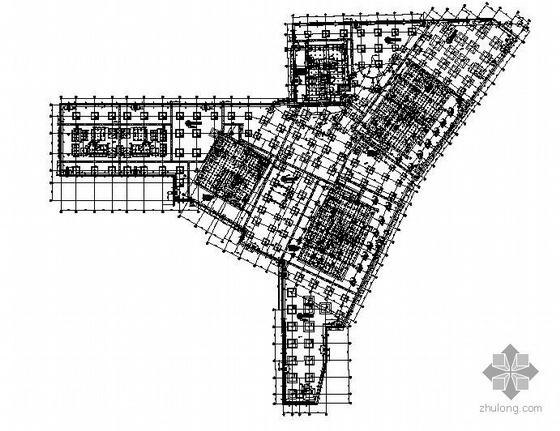 北京某国际城住宅商业及地下室结构图
