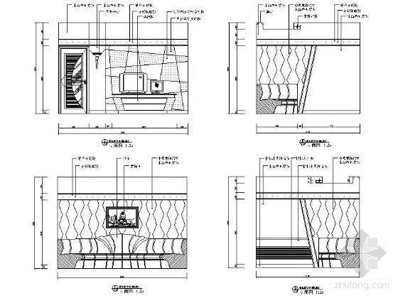 KTV包房立面设计图