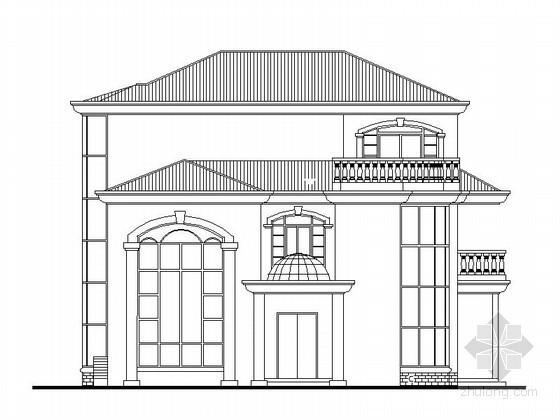 某三层欧式独栋别墅建筑施工图