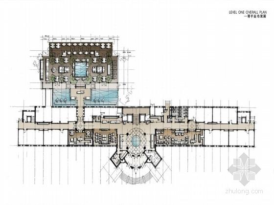 [西安]新中式风格时尚酒店全套装修方案