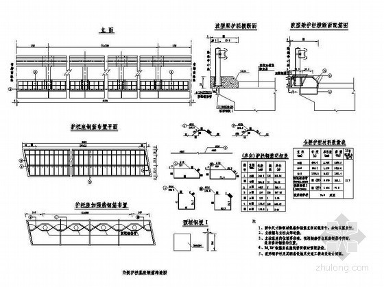45m现浇预应力混凝土简支箱梁内侧护栏基座钢筋构造节点详图设计
