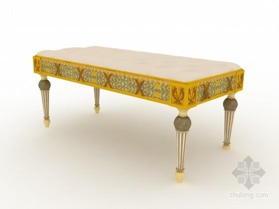 欧式床尾椅3d模型下载