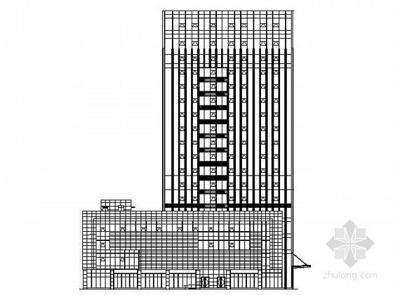 某十六层简约办公楼外立面幕墙工程施工图