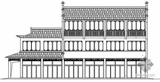 某三层仿古办公楼建筑施工图