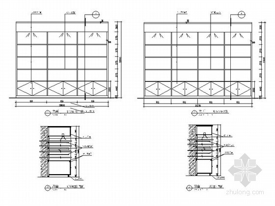 写字楼办公家具节点CAD图块下载