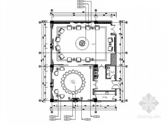 中餐厅大型VIP包厢室内装修图