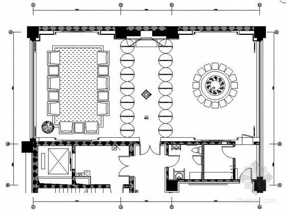 现代办公楼多功能厅室内装修设计图