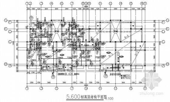 六层砖混结构住宅楼结构施工图(条形基础 原创)
