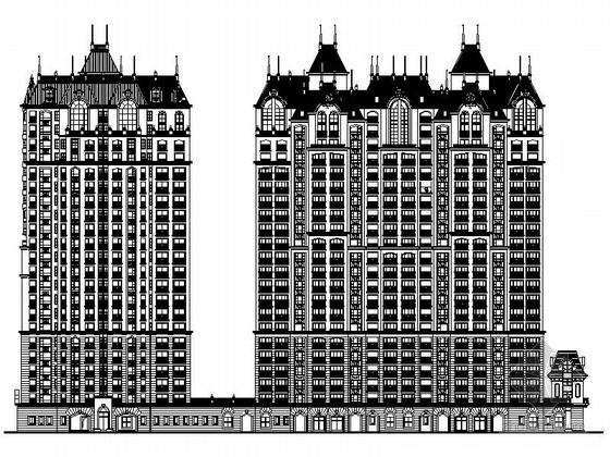 [安徽]某欧式小区规划及单体住宅楼施工图(知名设计院)