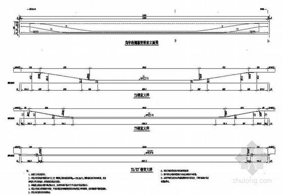 公路人行天桥主桥箱梁预应力布置节点详图设计