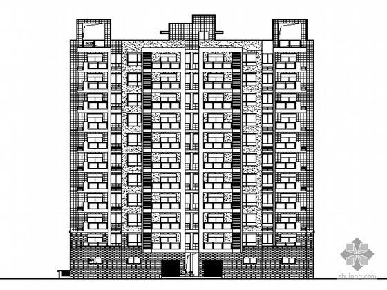 [温州瑶溪南片]某十一层现代住宅楼建筑施工套图