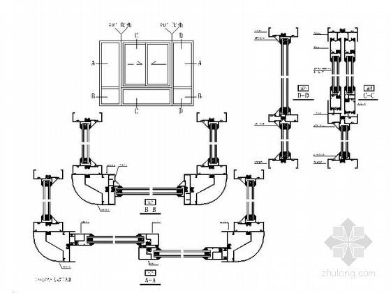 [合肥]某公寓彩铝中空玻璃窗节点、大样图(含强度、热工计算)