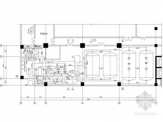 [浙江]某办公楼蓄冷热机房工艺设计图纸