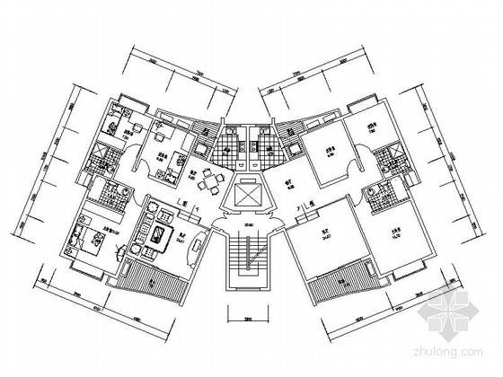 [合集]26个小高层住宅户型图(南梯、北梯)