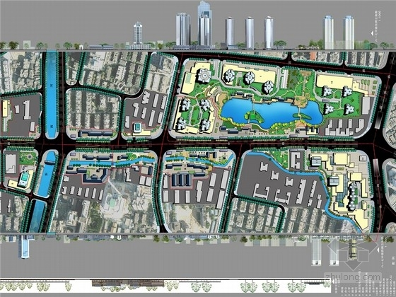 [福州]滨水商务休闲传统文化街区景观规划设计方案(3套方案)