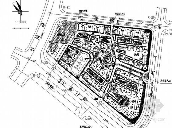 [长沙]某居住区修建性详细规划总平面