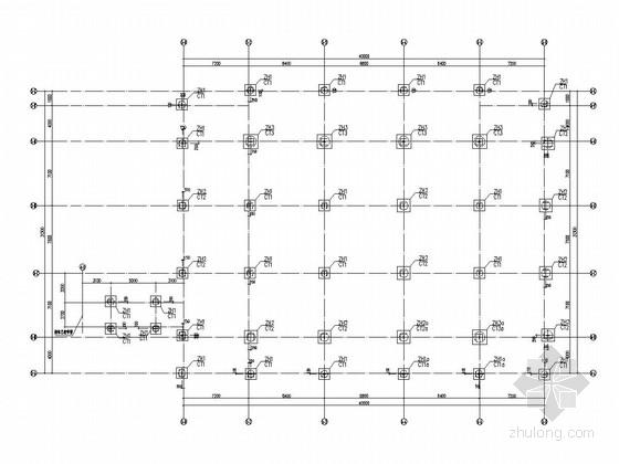 [长沙]三层小学食堂及风雨操场结构施工图