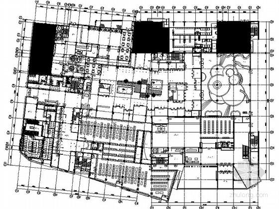 [天津]日式风情主题温泉会所室内CAD施工图(含方案)