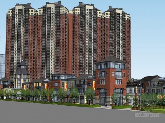 [福建]欧式风格高层商住区规划及单体建筑设计方案文本