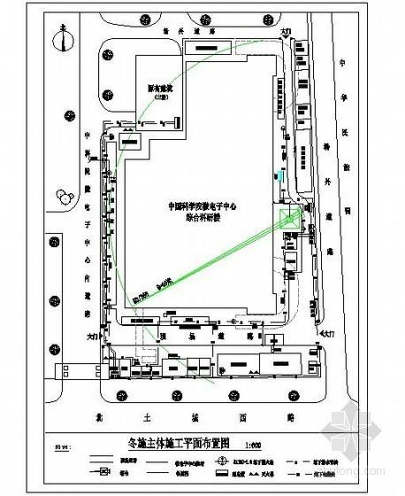 [北京]办公楼冬季施工方案(测温孔平面布置图)