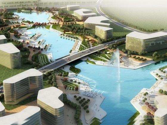 [南京]城市中心商务区滨水景观规划设计方案