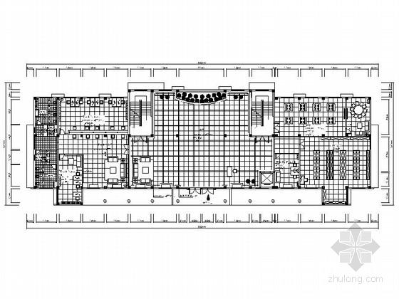 [湖南]休闲娱乐现代风格职工服务中心室内装饰工程设计施工图