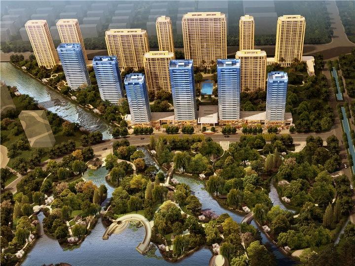[杭州]滨水高层居住区二期核心区景观工程全套施工图