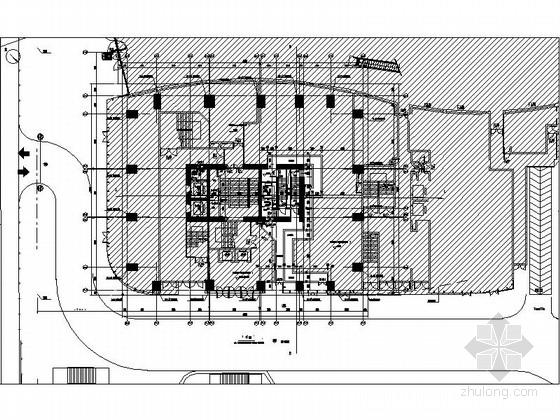 [四川]160米独栋现代风格住宅楼设计施工图(知名建筑设计院)-160米独栋现代风格住宅楼首层平面图