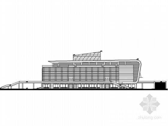 [江苏]5层大玻璃幕墙体育馆建筑设计施工图