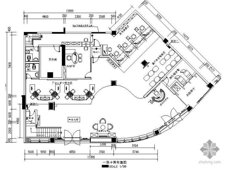 中国银行某支行装饰工程竣工图