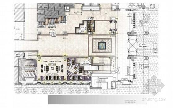 [北京]中关村豪华五星级酒店大堂室内装修方案