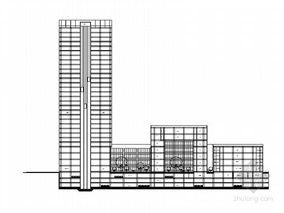 [成都]知名企业超高层办公园区建筑设计施工图(金融后台服务区 含效果图)