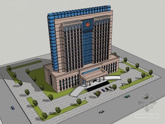政府办公建筑SketchUp模型下载