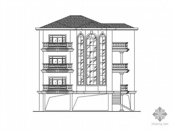 某四层、底层架空别墅建筑施工图