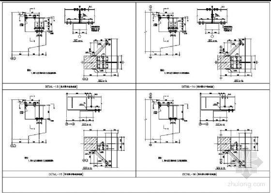 吊车梁与混凝土柱连接详图