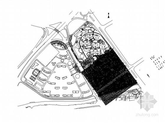 [佛山]县城居住区园林景观工程全套施工图(一)