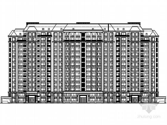 [江苏]某小区十四层板式新古典风格高层住宅建筑施工图