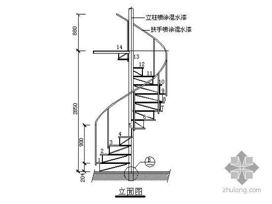 【图集】建筑细部构造cad精选图集-特殊楼梯
