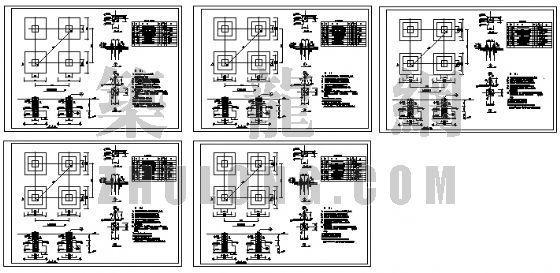 线路铁塔基础图纸