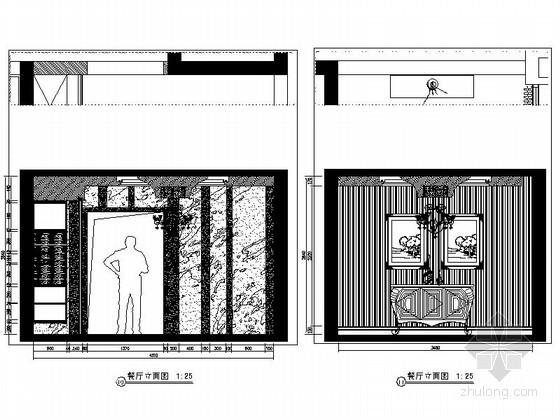 [重庆]某欧式四居室餐厅立面图