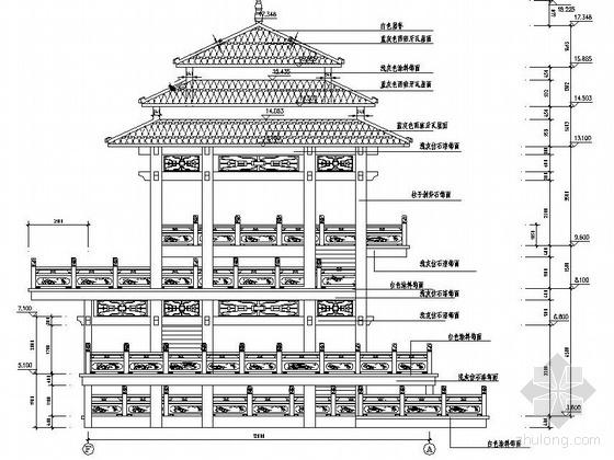 湖南省某滨水广场景观设计施工图
