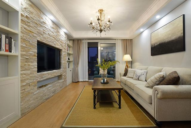 美好的家就该这样,九十六平米美式风格装修欣赏