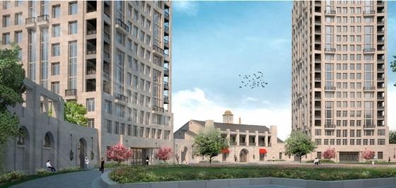 高层住宅楼建筑效果图