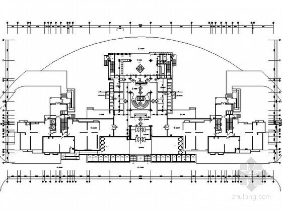 [天津]名师设计高档会所设计CAD装修图