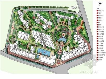 [福建]新古典主义风格精品高端住宅小区景观设计方案