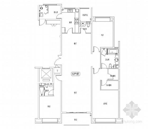 [江苏]经典法式新古典风格三居室样板间室内软装设计方案