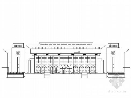 [新疆]2层框架结构大学小礼堂建筑设计施工图
