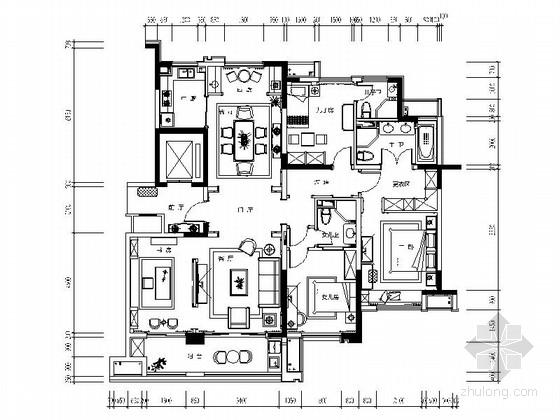 [昆山]别致小清新样板房施工图(含效果图)