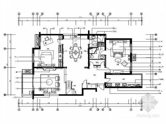 精品现代三层别墅样板间室内装修施工图