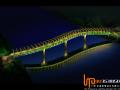 蚌埠市城市亮化工程分三阶段进行美丽夜景照明建造中